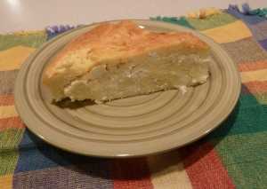 A slice of cheese pie