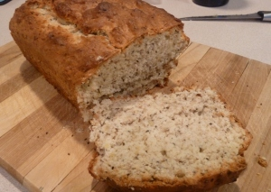 Banana bread with chia seeds