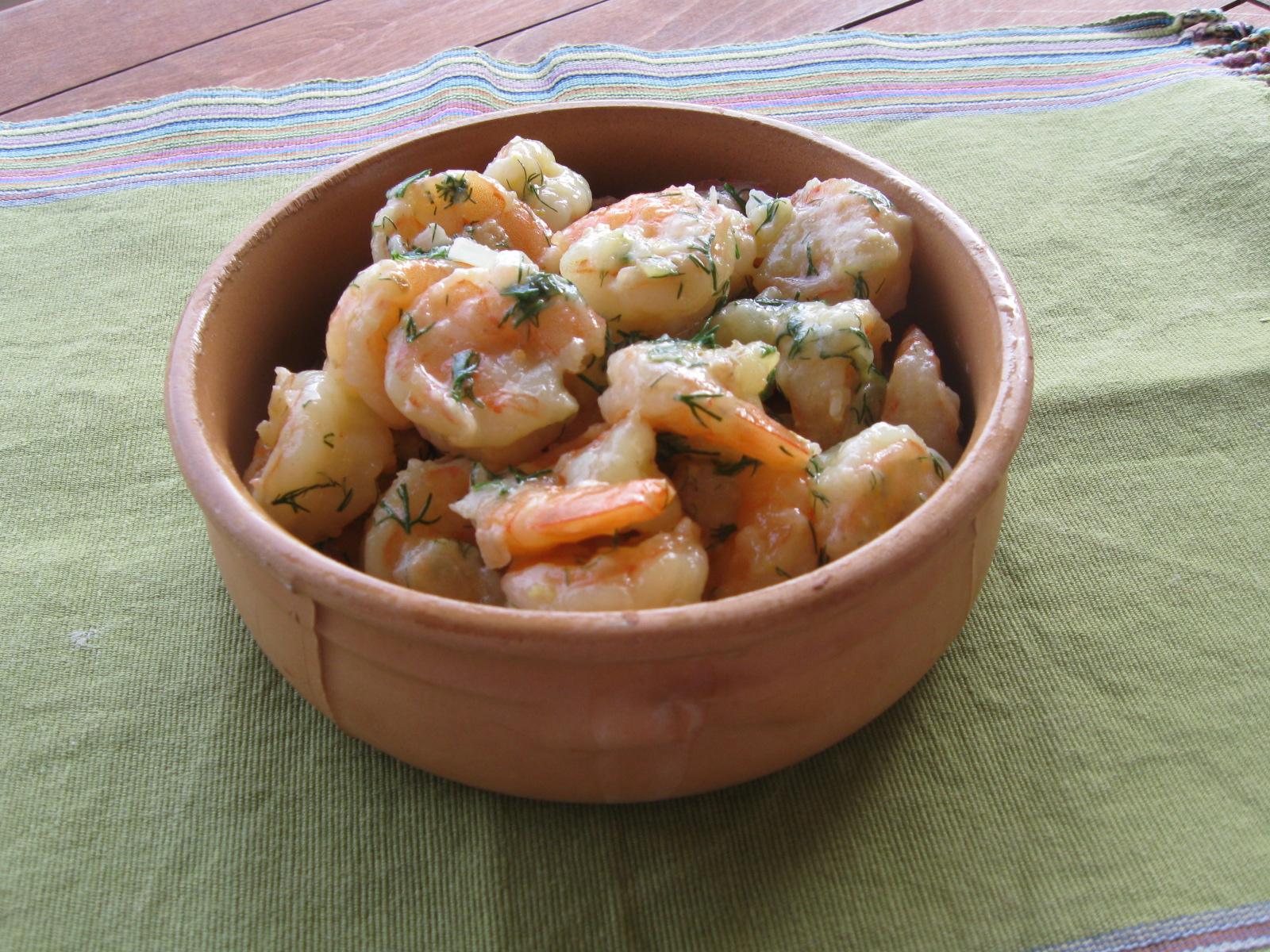 Shrimp with garlic, lemon, and dill | Mydinnertoday