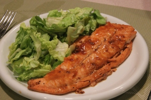 Salmon with orange and soy