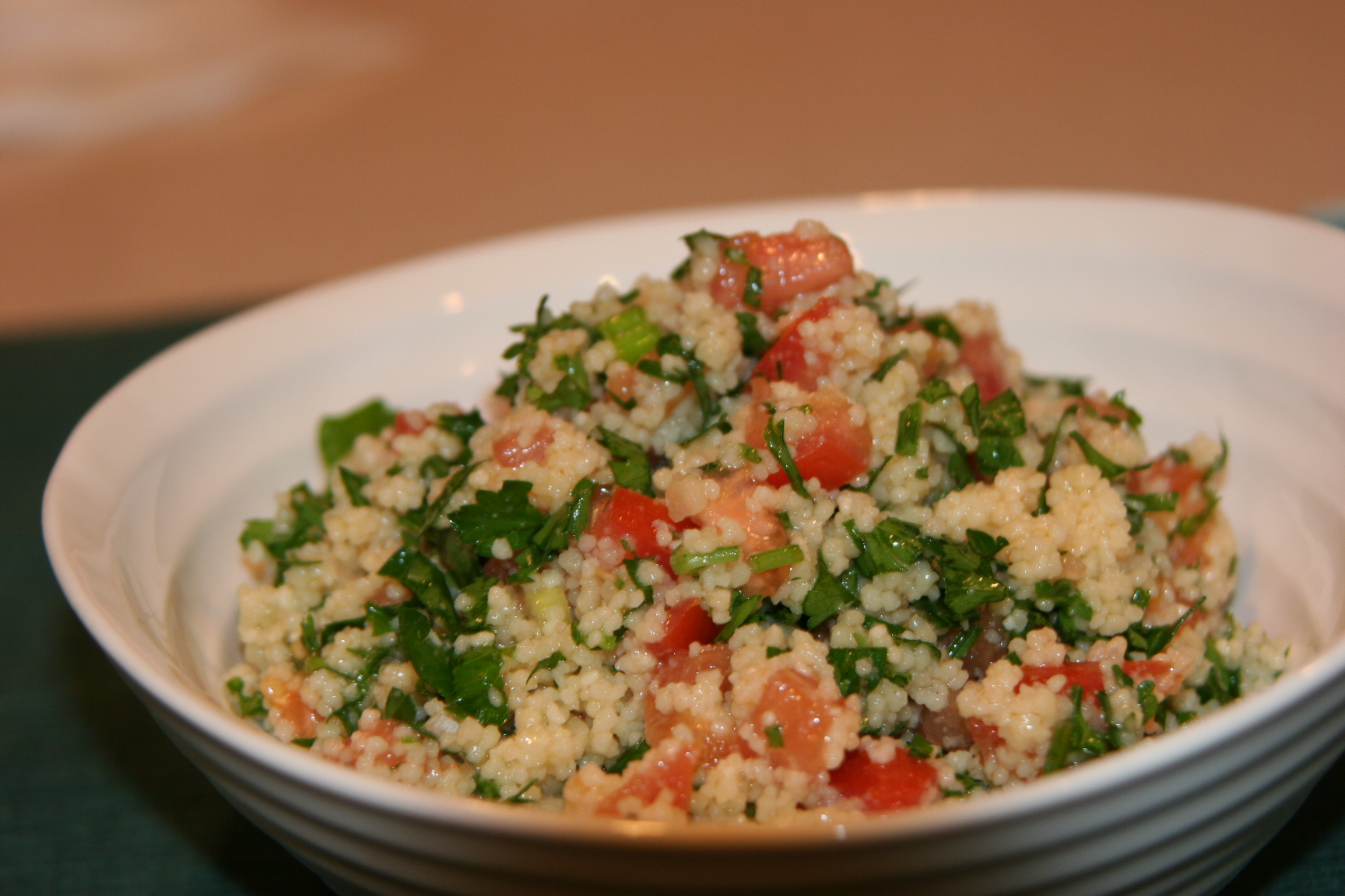 Refreshing tabouleh in five minutes