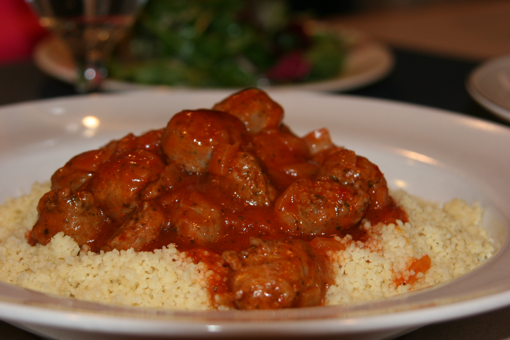 Couscous with sausage stew | Mydinnertoday