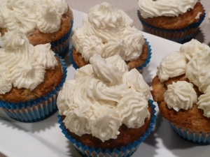 "Banana bread cupcakes. See recipe ""Banana bread cupcakes"""