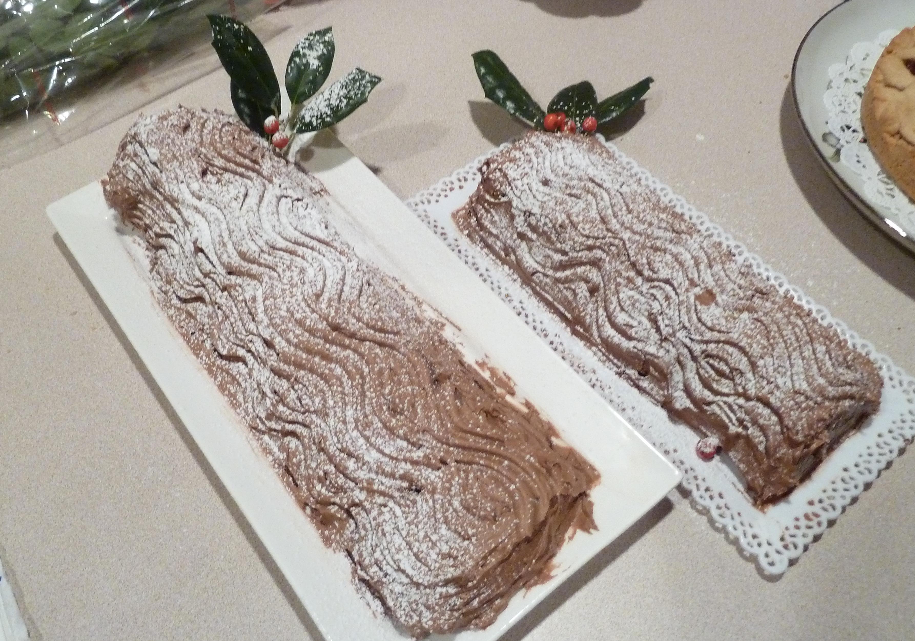 how to make a christmas yule log