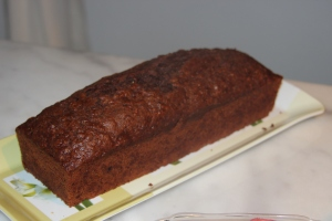 Loaf of chocolate bread with zucchini