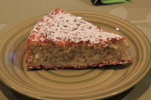 Lemon cake with chia seeds
