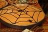 Halloween spider web cake