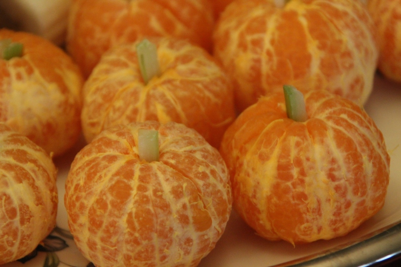 Lovely mandarin pumpkins