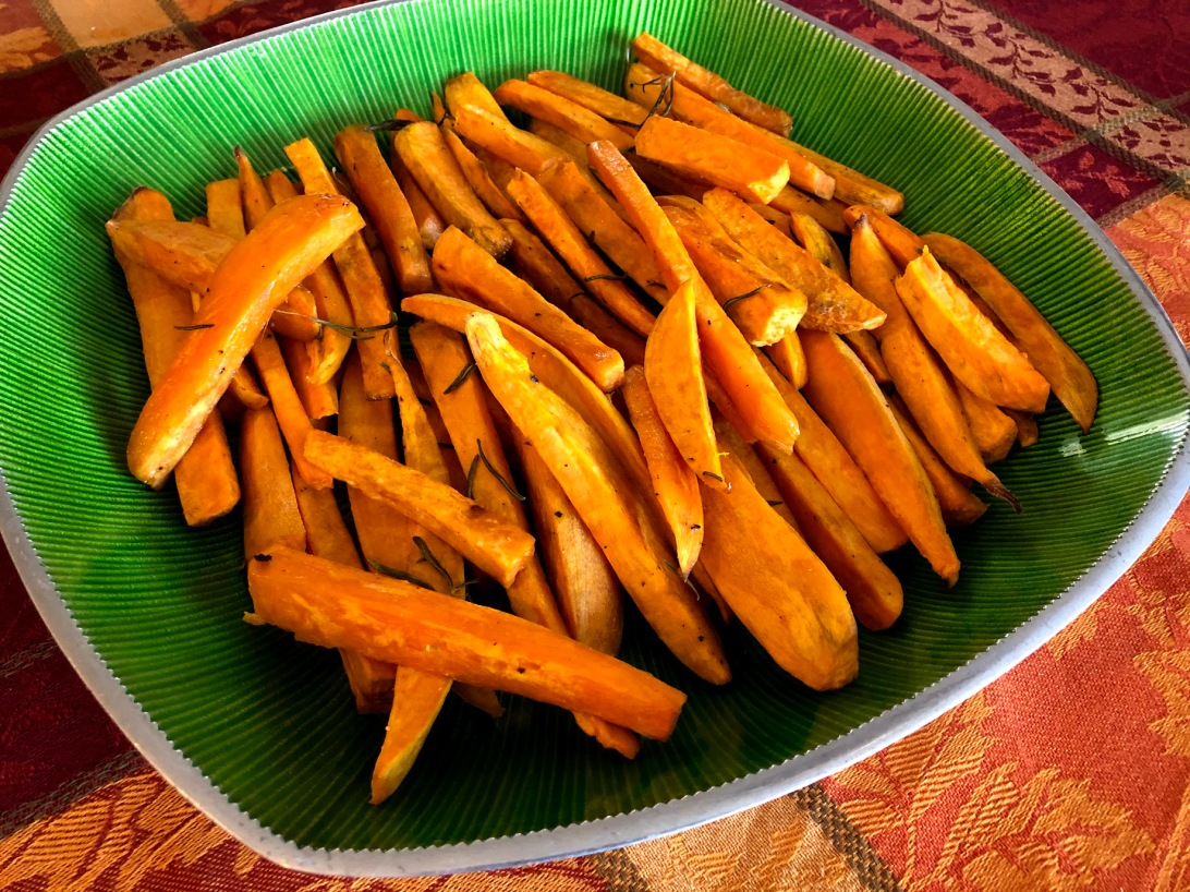 sweet potatoes with rosemary